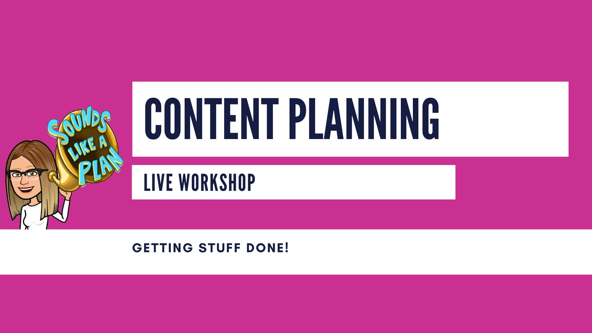 content planning header